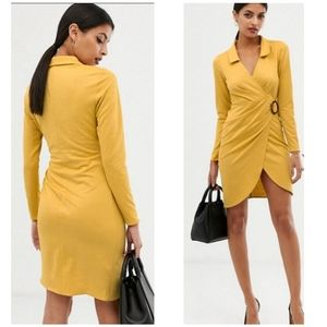 NWT ASOS Design Textured Dress with Ruching 6